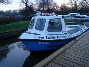 Sutton Staithe Boat recovery tug boat